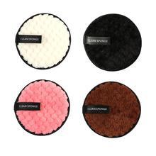 4 шт., бамбуковое волокно, Подушечка для снятия макияжа, моющееся очищающее полотенце, многоразовый хлопковый спонж для снятия макияжа, двухслойный мягкий
