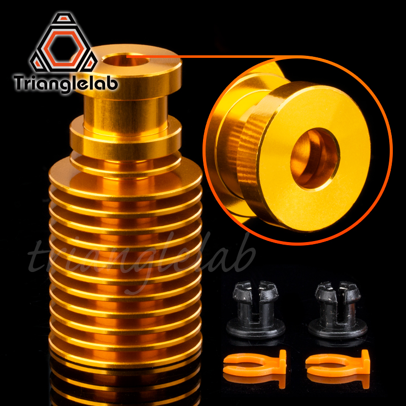V6 Gold Heatsink For E3d Gold Hotend  Radiator  Remote 1.75MM Direct & Bowden For Feeding 3D Printer Titan Extruder AQUA