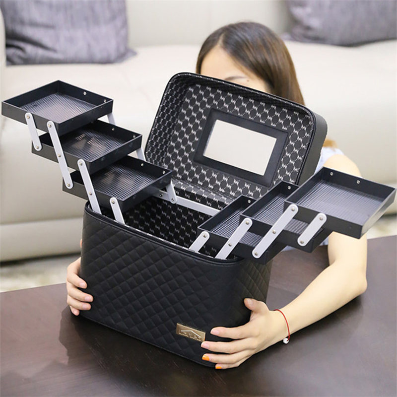 Makeup Storage Bag Makeup Bag Large Capacity Professional Cosmetic Bag Organizer For Cosmetics Fashion Toiletry Bags Suitcases