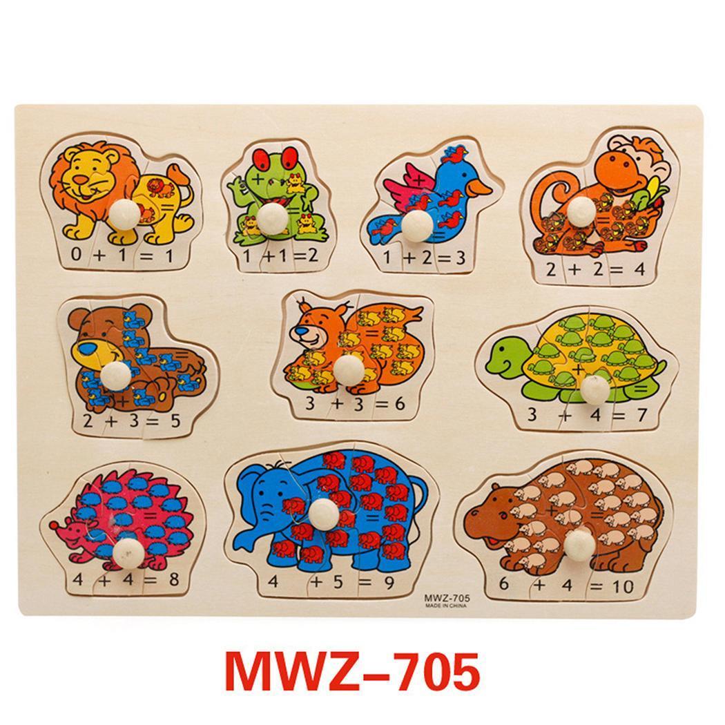 Дети раннего образования Деревянные головоломки руки захватывающие Multi Возраст до 6 лет доска номер Алфавит 0,3 кг игрушка