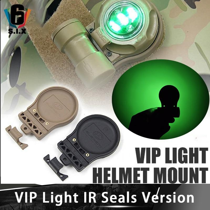VIP IR Seals Version Strobe Survival Helmet Light 2x Infrared 3x Green Light And Tactical  Fast Helmet Accessories Light Mount
