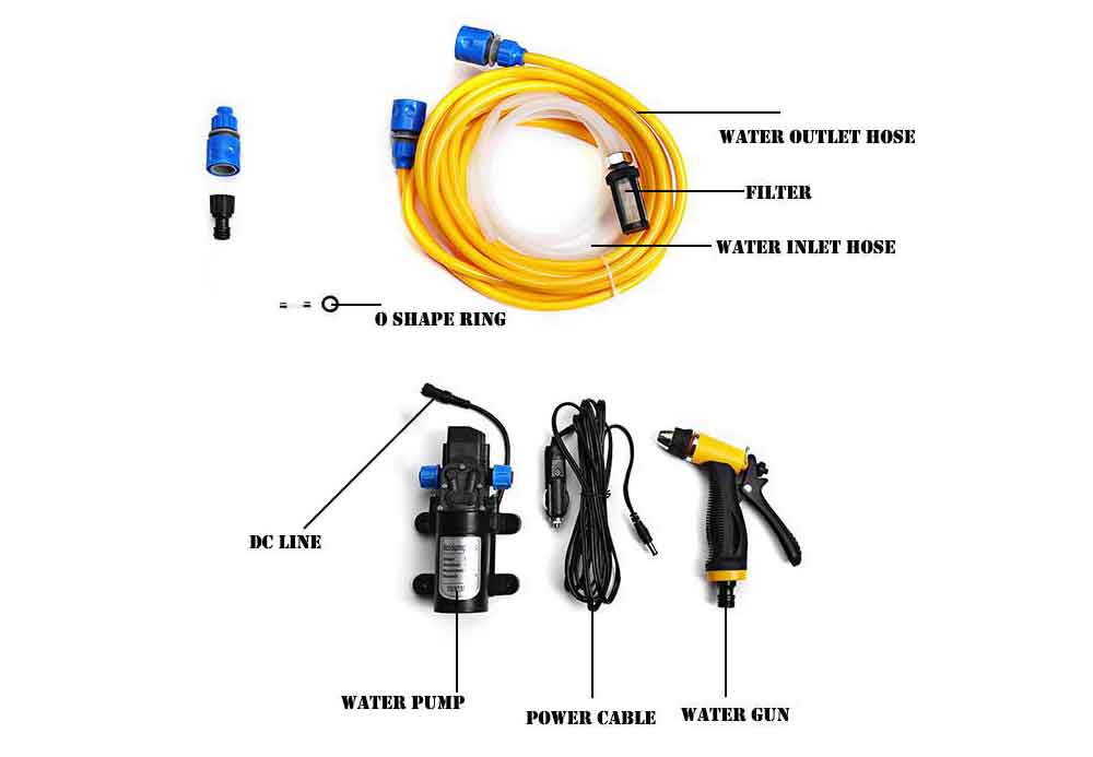 Car Wash & Maintenance Fashion Style Car Wash 12v Portable 80w 160psi High Pressure Car Water Gun Electric Washer Auto Wash Pump Set Tool Limpid In Sight Car Wash Accessories