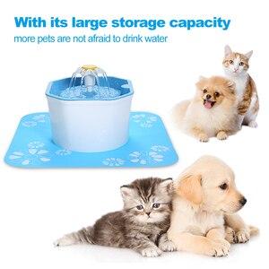 Dadypet automático gato fonte de água 1.6l elétrica fonte de água do cão pet bebedor tigela com almofada pet gato beber tigela dispensador