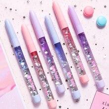 Buy SIXONE 1 PCS 0.5mm Colorful Quicksand Gel Pen Black Ink Korean Creative Girls Gel Pen with Liquid Sequins Gel Pen for Signature directly from merchant!
