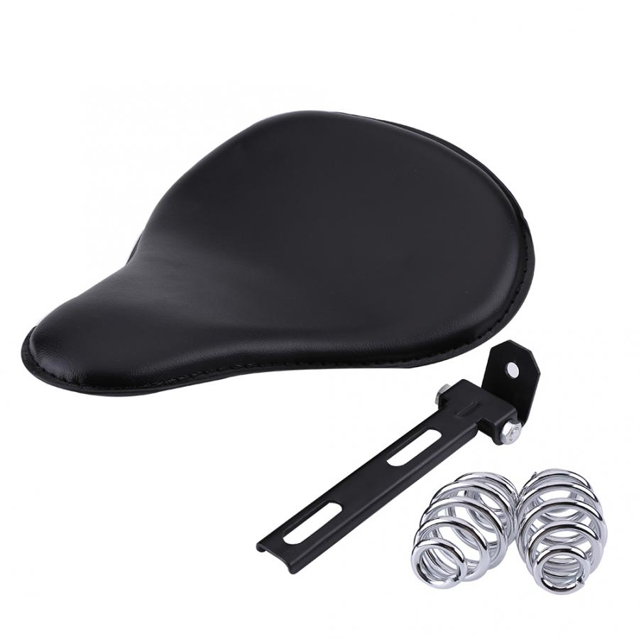 Motorcycle Cushions Motorcycle Solo Seat Kit with Springs and Bracket for XL883 XL1200 Chopper Bobber Motorcycle Solo Seat Pad