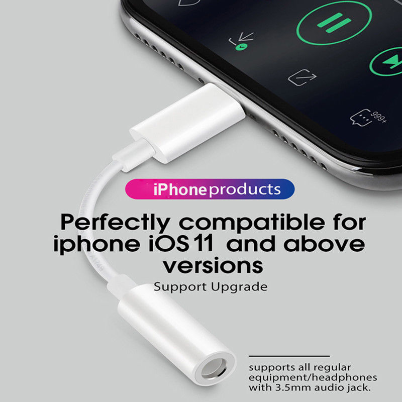 Headphone Adapter For IPhone 7 8 X AUX Adapter Female To 3.5mm Male Adapters Headphone Jack Cable