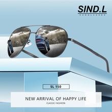 Mens fashion polarized sunglasses UV400 lens aluminum magnesium round frame classic travel glasses accessories SL033