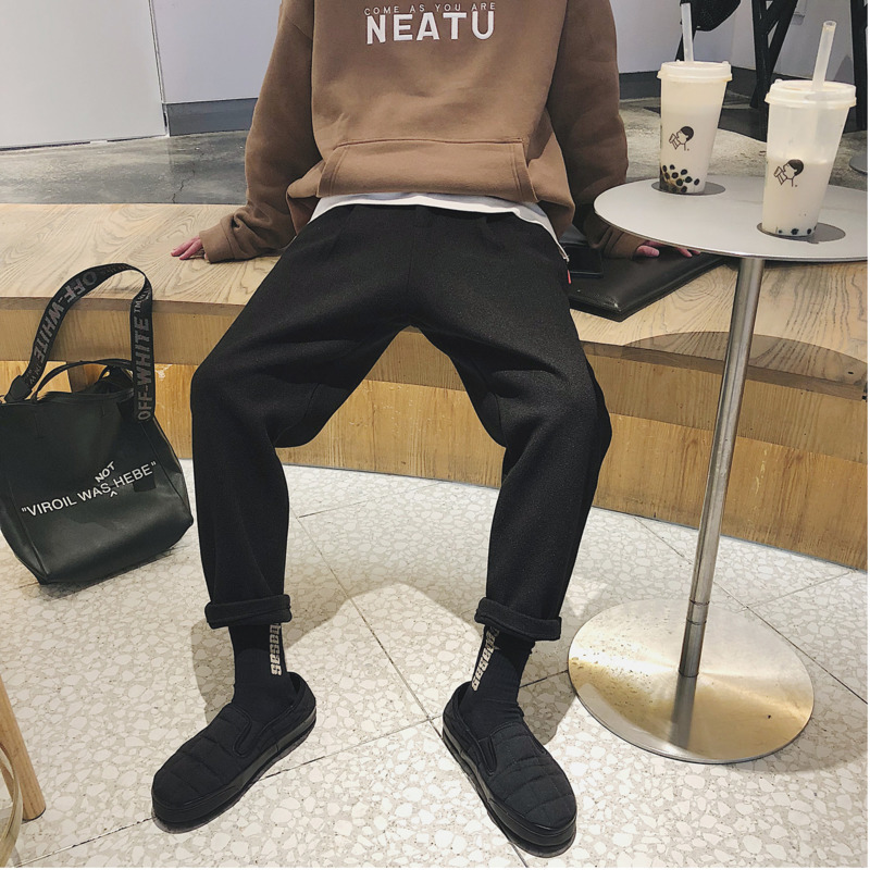 2019 The New Listing Spring And Summer Fashion Trend Korean Couple Leisure Harajuku Cotton Sweatpants Joggers Streetwear