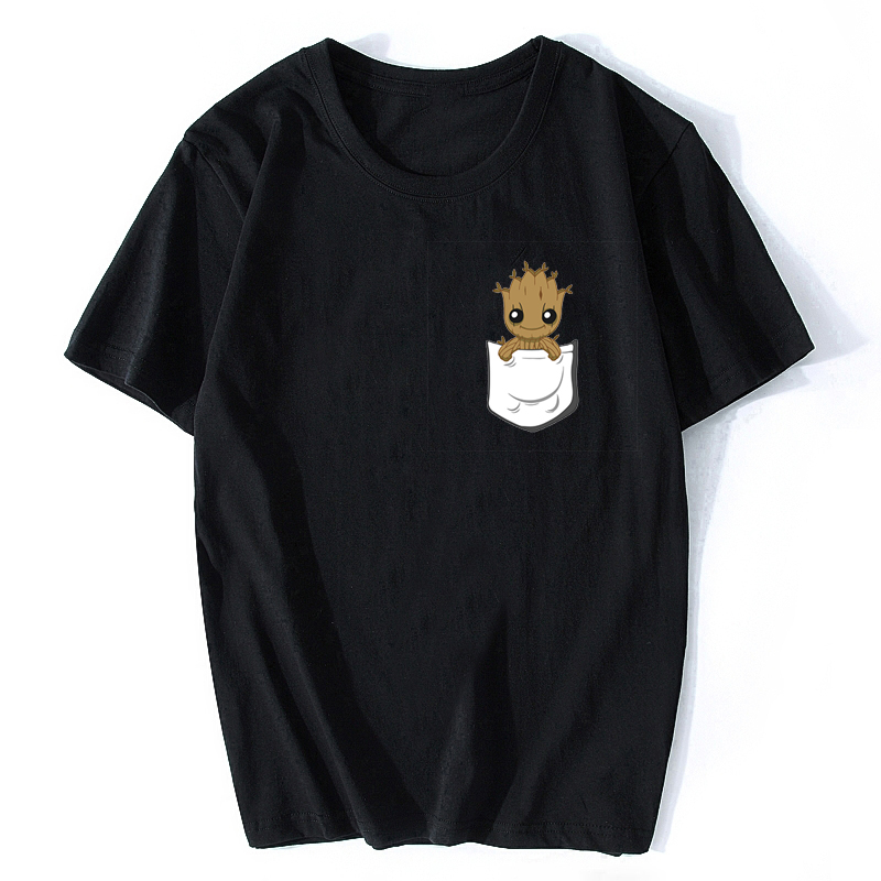 Groot   T     Shirts   Tees Men Marvel X Planet Monarch Bounty Hunter Superhero Movie Guardians of The Galaxy Lovely COOL Funny   Shirt