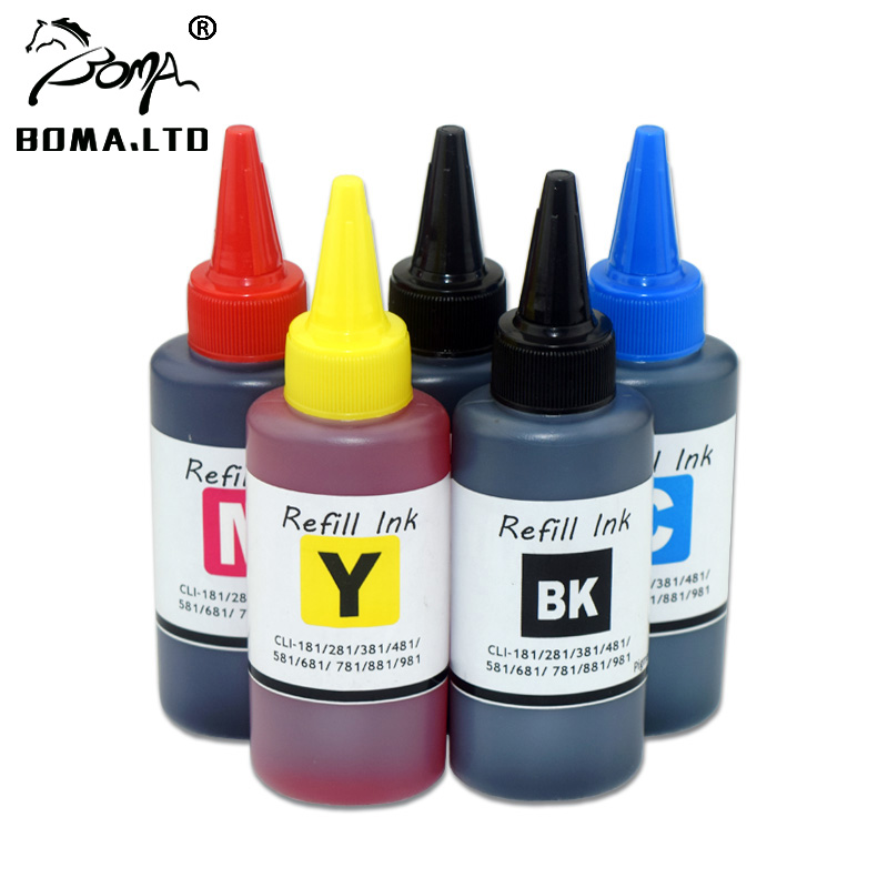 BOMA.LTD PGI <font><b>580</b></font> CLI 581 PGI-<font><b>580</b></font> CLI-581 PGI580 581 Refill Cartridge Ink For <font><b>Canon</b></font> PIXMA TS8250 TS8251 TS8252 TS9150 TS9155 image