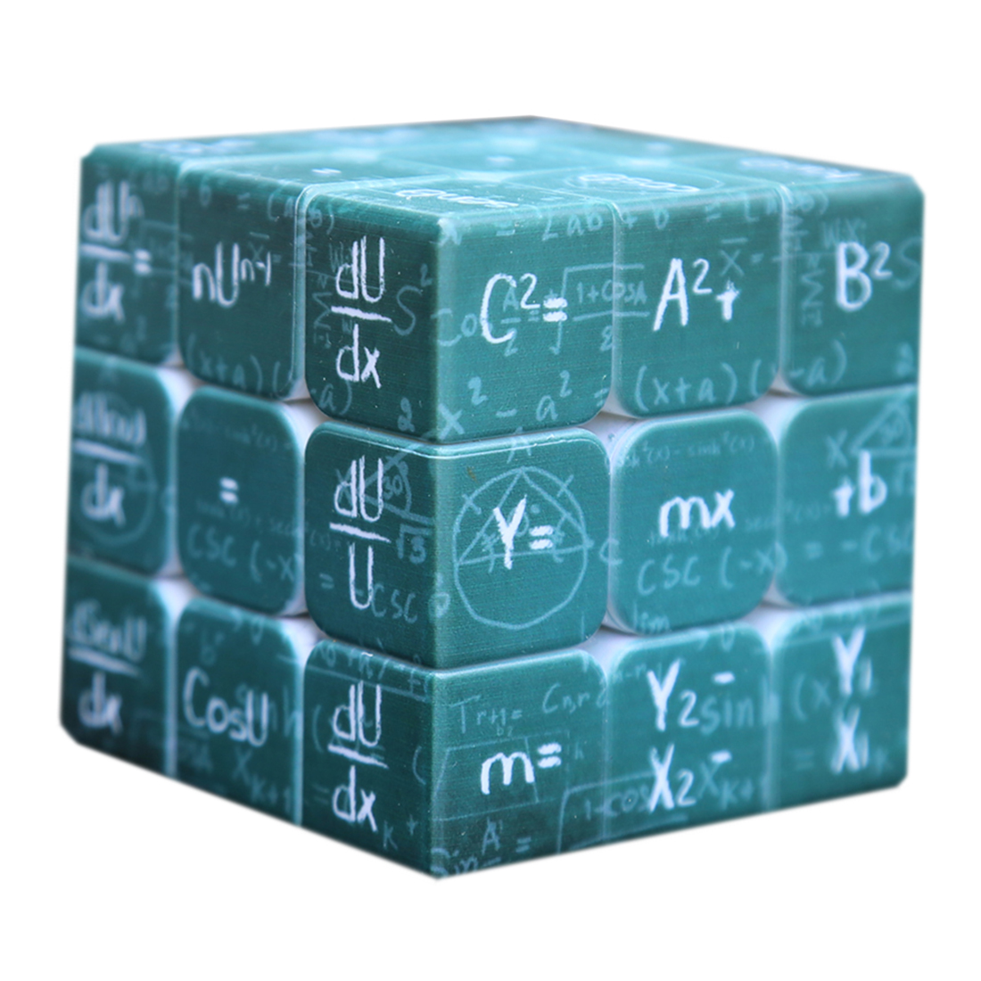 Fangmo UV Physical 3x3x3 Magic Cube Puzzle Toy For Brain Traning - Green Bottom