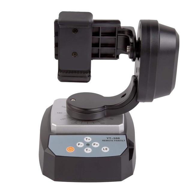 TCES ZIFON YT 500 אוטומטי שלט רחוק פאן הטיה אוטומטי ממונע מסתובב וידאו חצובה ראש מקסימום עבור iPhone 7/7 בתוספת/6