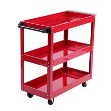 3 Tier Storage Shelves Tools Cart with 360 Degree Free Rotation Wheels for Workshop Garage Use