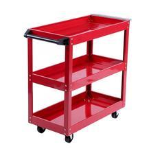 Estantes de almacenamiento de 3 niveles, carro de herramientas con rueda con rotación libre de 360 grados para uso en taller y garaje