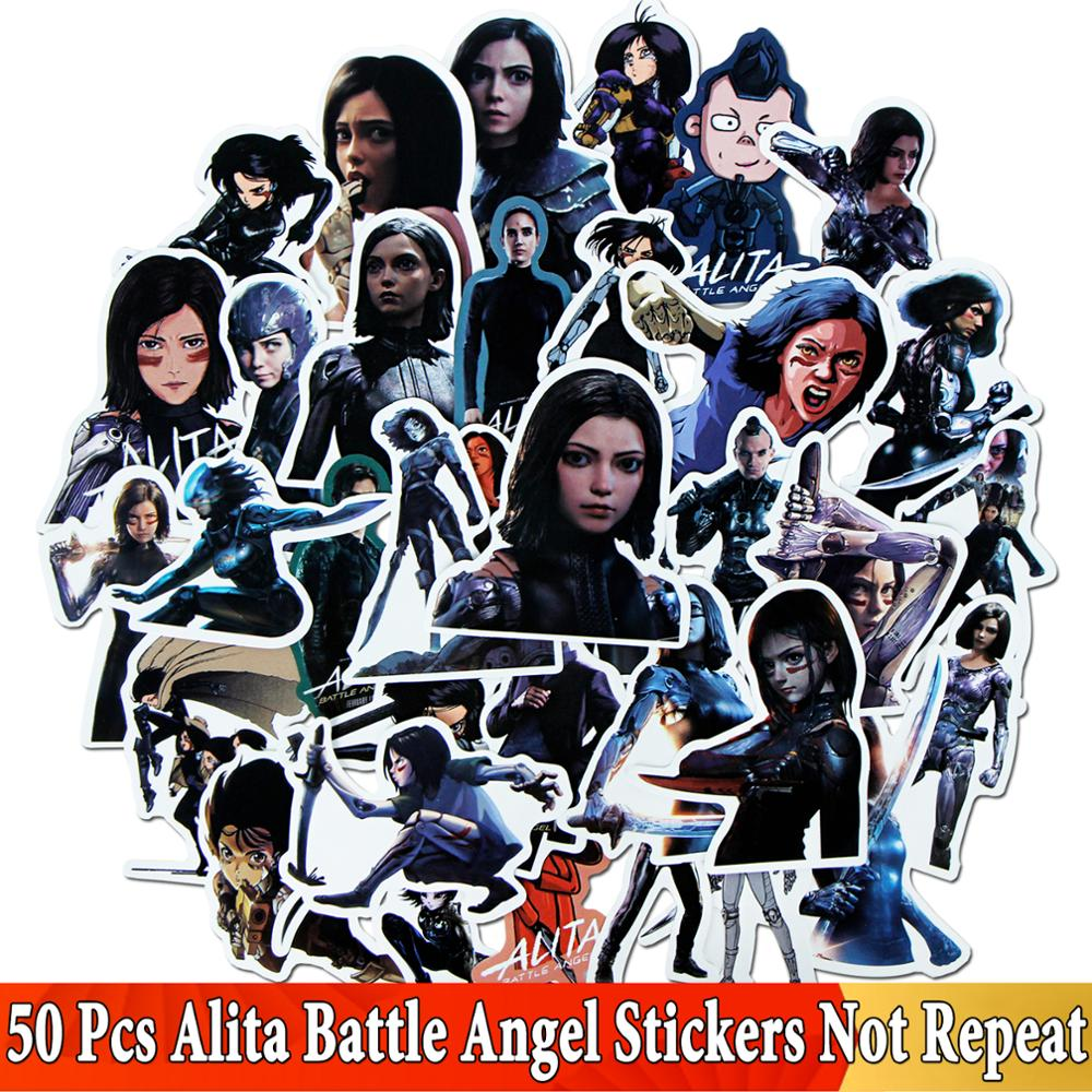 50 Pcs JDM Film Character For Alita Battle Angel Stickers For Car Laptop Motorcycle Luggage Bicycle Snowboard Sticker Toys