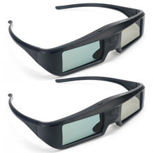 2pcs G06 Active Shutter 3D Glasses For Sony, Panasonic, Sharp, Toshiba, Mitsubishi, Samsung support HD 3D TV 3D projector(China)