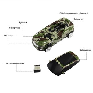 Image 4 - 2.4Ghz Wireless Mouse New Camo Cool Car Shape Mice USB Receiver Computer Gaming 3D Optical Mause For PC Laptop Macbook Pro