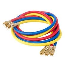 Новинка-1/4 дюйма 5/16 дюймов Sae переменного тока зарядки шланги трубка 1,5 м 800Psi для вентиляции и кондиционирования воздуха система кондиционирования R410A R134A R22 R12 R50