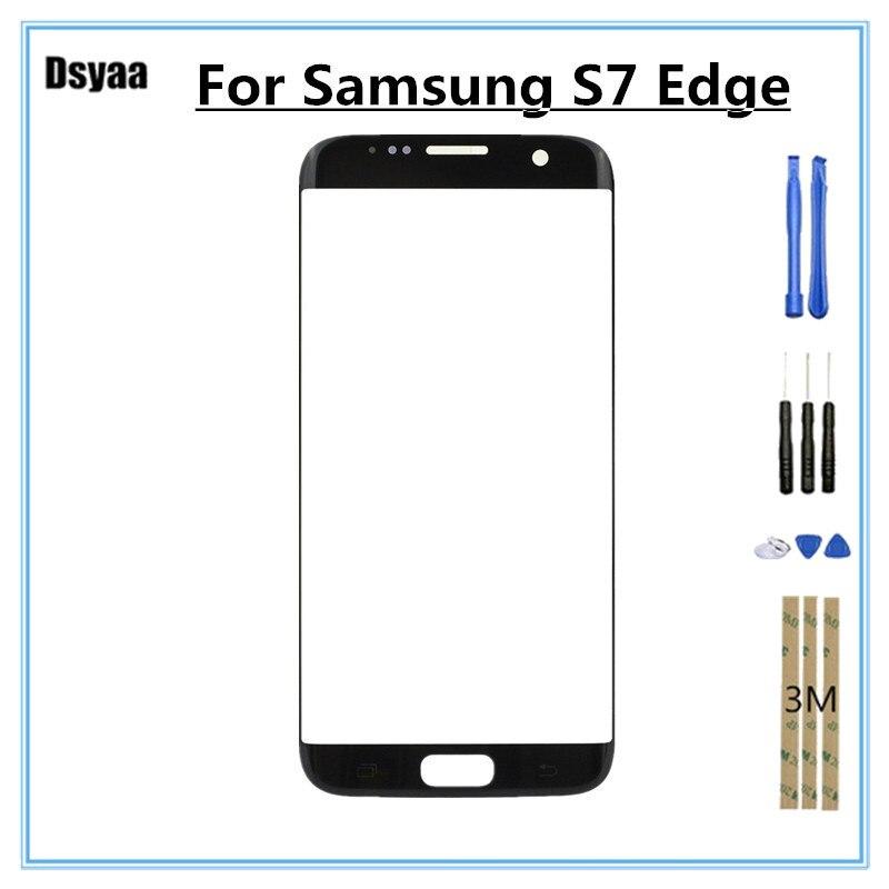 5.5 pouce pour Samsung pour Galaxy S7 Bord S7edge G935 G935F G9350 Tactile Panneau Lentille En Verre No Digitizer Capteur LCD avec des Outils Libres