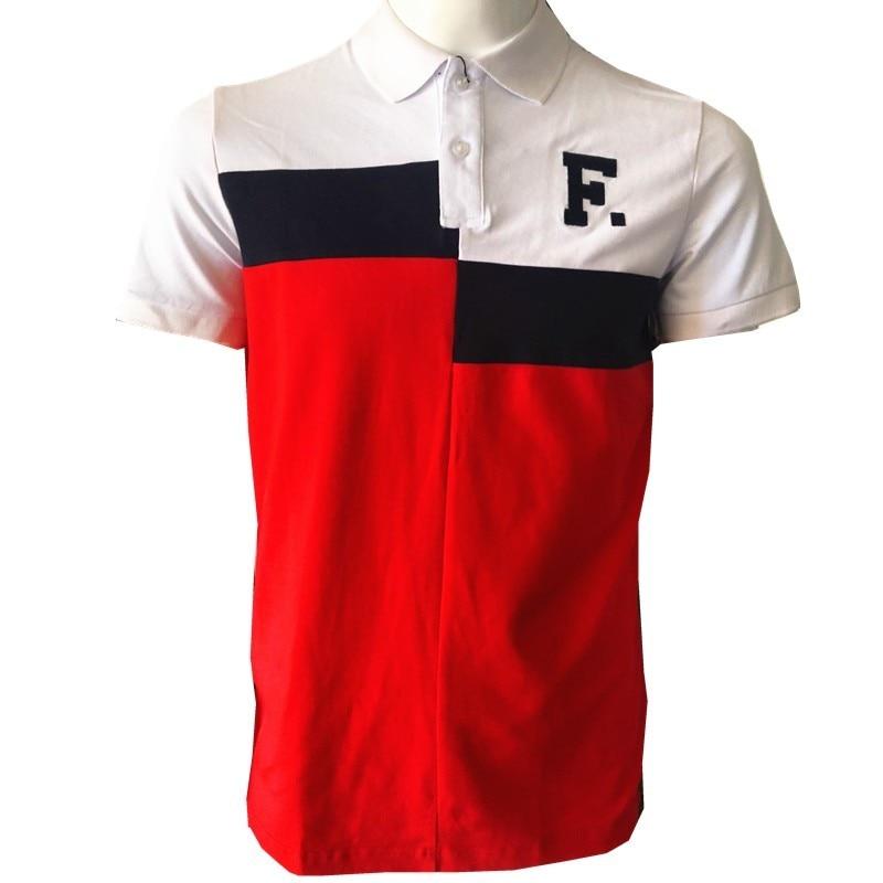 Eden Faconnable Men Polo 2019 Verão Curto Roupas Polos Famosa Camisa  Masculina Casual Sportswear Parque Mens bbb5992080def