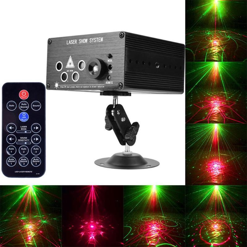 7 trous 120 Modèles Projecteur led Laser éclairage de scène contrôle vocal DJ Lampe boule disco lumières de fête Flash lumières DJ pour KTV