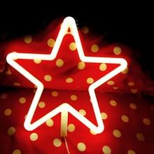 Christmas LED Neon Sign Light Room Shop Wedding Decoration Love Lightning Cloud Moon Star Photography Prop D30