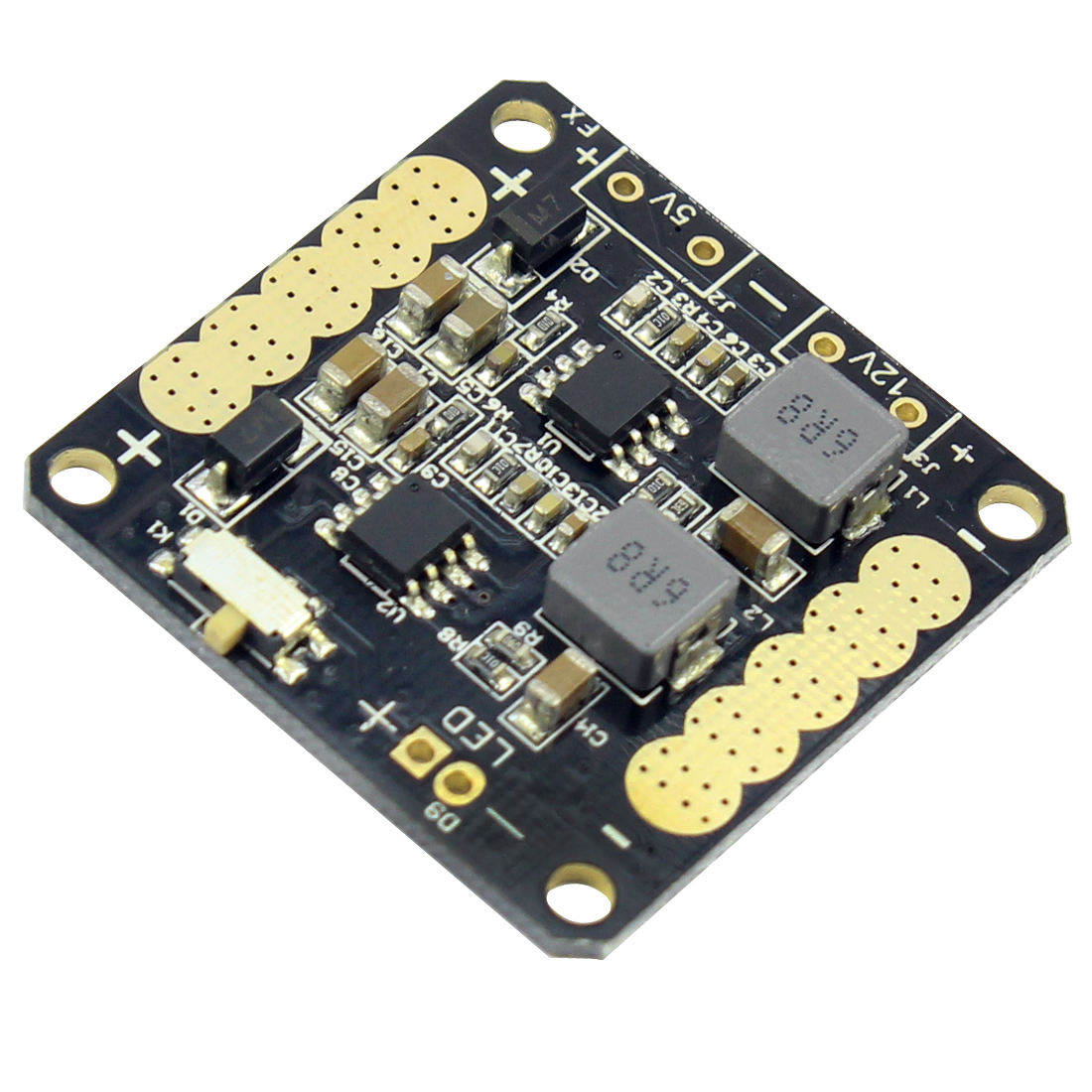 F14708 CC3D Flight Controller Power Distribution Board with 5V/12V BEC Output LED Switch for FPV RC 250 Across Quadcopter + FS image