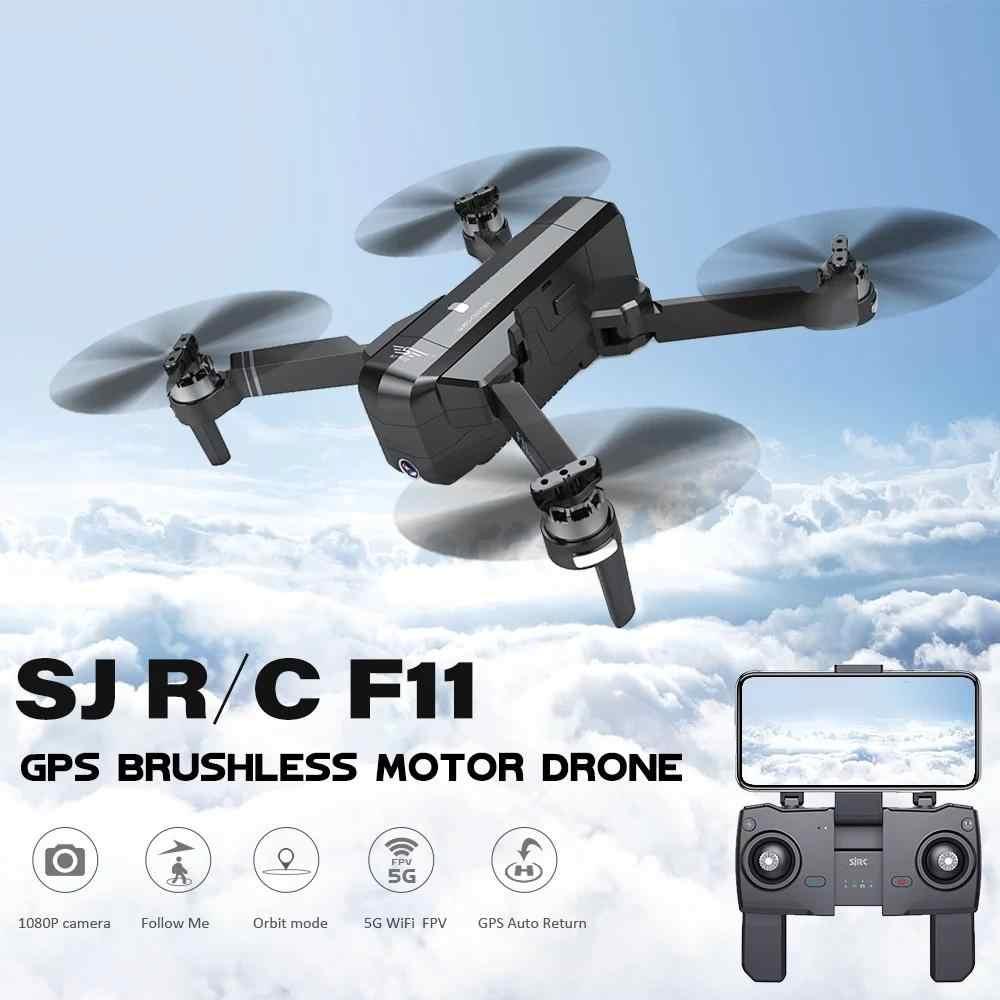 LeadingStar SJRC F11 PRO gps 5G Wifi FPV с 2 K камерой 25 минут время полета бесщеточный селфи RC Дрон Квадрокоптер