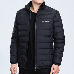 Image 3 - Mens Winter Jacket Coat 2020 White Duck Down Light Jacket Casual Outerwear Snow Warm Stand Collar Brand Male Feather Coat Parkas