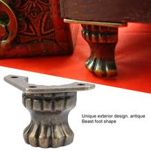 4Pcs Antique Corner Protector Feet Leg Jewelry Chest Wood Box Decorative corner protector For Furniture Cabinet feet Cheap Price(China)