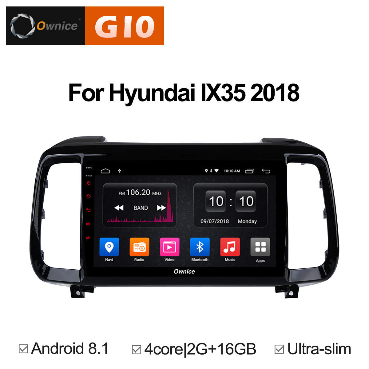 For Hyundai IX35 2018 2019 auto Stereo Intelligent Smart Multimedia DAB Vehicle Android 8.1 Auto 2 Din Radio GPS DVD Car Player