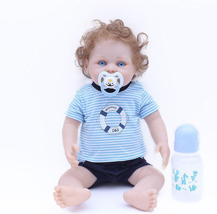 "18/""Silicone Reborn Boy Doll Vinyl Lifelike Newborn Baby Handmade Soft"