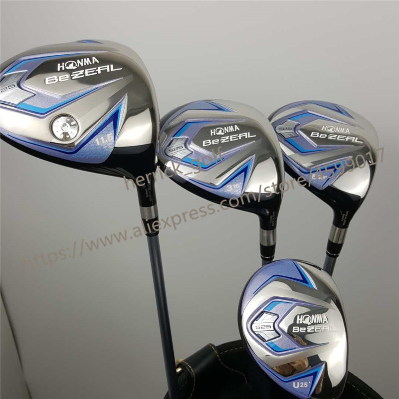 Women's Golf Clubs HONMA BEZEAL 525 Golf Driver Fairway Wood Hybrids Graphite Golf Club L Bending Free Shipping