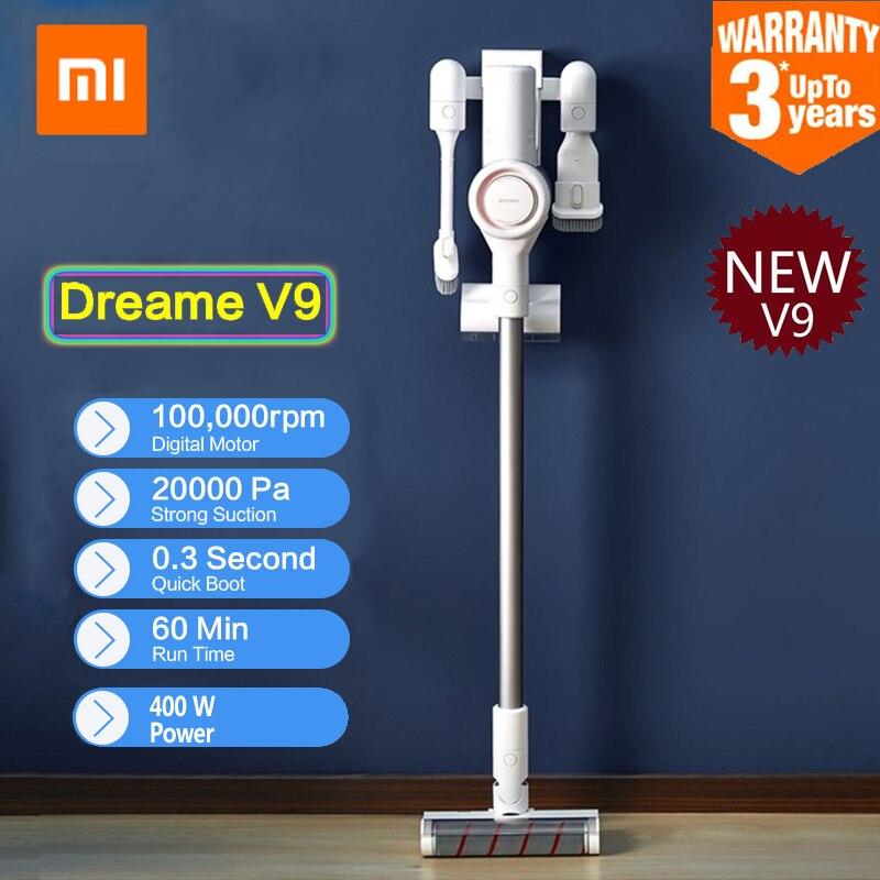 2019 Xiaomi Dreame V9 Handheld Cordless Vara Aspirador de pó Coletor de pó Aspirador 400 W 20000 Pa Carro Casa De Xiaomi youpin