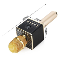 DOITOP Bluetooth Karaoke Live Microphone Portable Handheld Wireless KTV Machine Microfone Speaker LED Light Mic for Phone PC