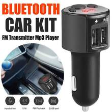New Hot sale 4.1 FM Transmitter Aux Modulator Bluetooth Handsfree Car Audio MP3 Player with Smart Charge Dual USB Car Charger(China)