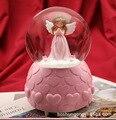 Ангел снег со светлой музыкальной коробкой снежный глобус украшение для дома аксессуары стеклянный шторм миниатюрный Рождественский пода...