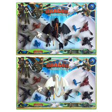 New Genuine 12pcs How to Train Your Dragon Light Fury night fury Toothless Can move PVC Collectible Kids toy Gifts