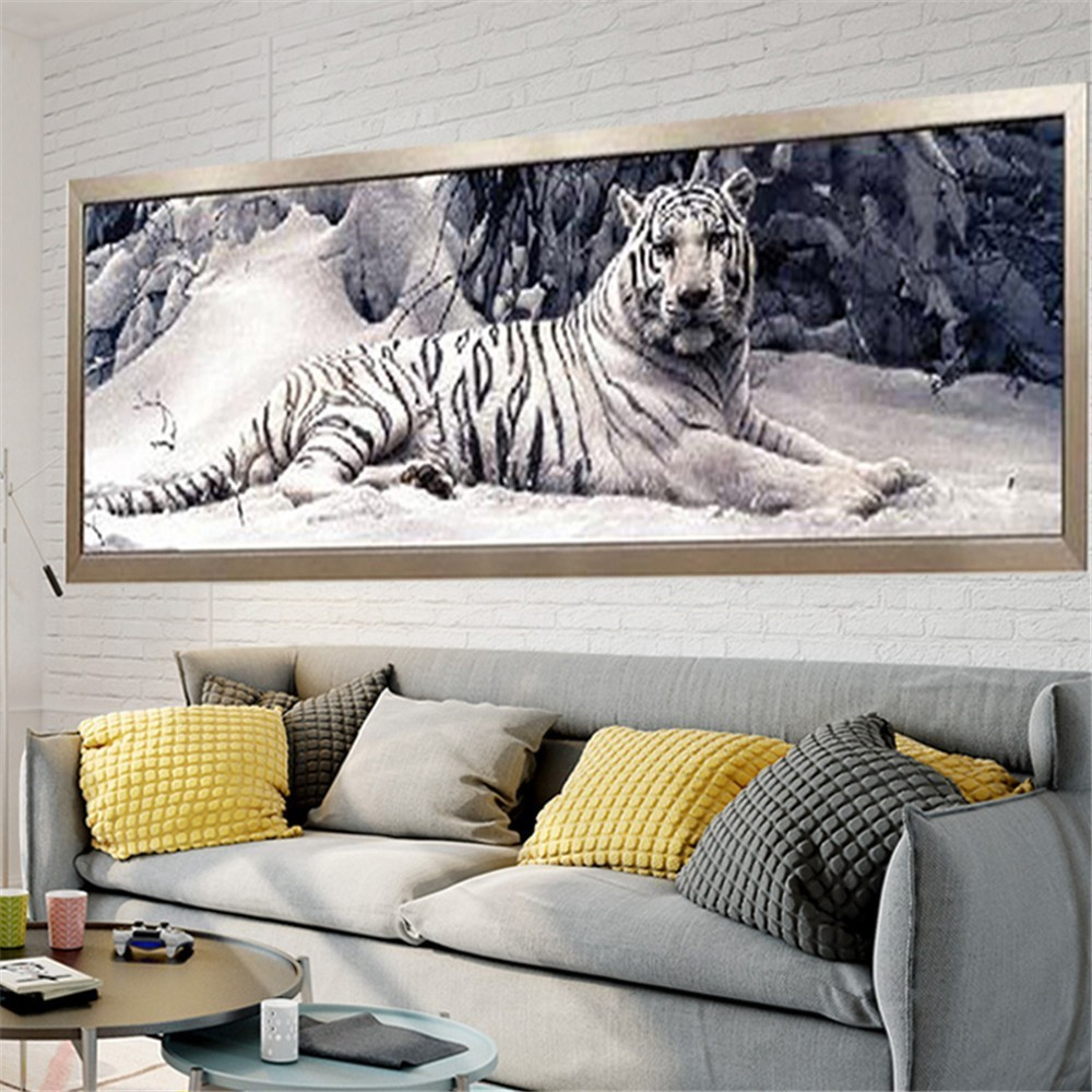 Huacan 5D DIY Diamant Peinture Tigre Diamant Broderie Vente Animal Photo De Strass Diamant Kit De Mosaïque Artisanat Couture