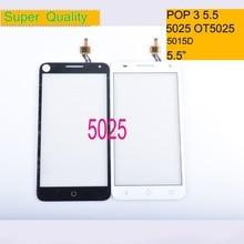 10Pcs/lot For Alcatel One Touch Pop 3 5.5 OT5025 5025D 5025 Touch Screen Touch Panel Sensor Digitizer Front Glass Touchscreen цена 2017