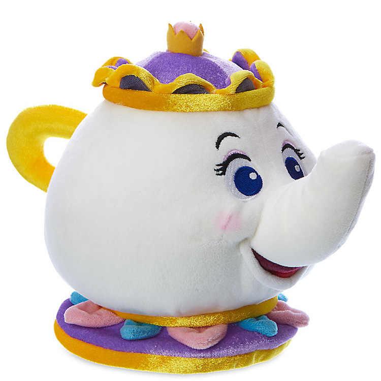 Красота и чудовище Mrs. Potts чайник чашка мягкая игрушка мягкая кукла плюшевые игрушечные лошадки индивидуальный Рождественский подарок