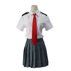 Image 4 - My Hero Academia Midoriya Izuku Cosplay Costume Boku No Hero Academia OCHACO URARAKA AsuiTsuyu Summer School Uniform