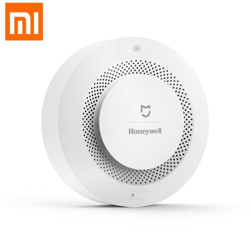 Hot Xiaomi Mijia Honeywell Smoke Fire Sensor Alarm Detector Audible Visual Smoke Sensor Remote Mi Home Smart APP Control