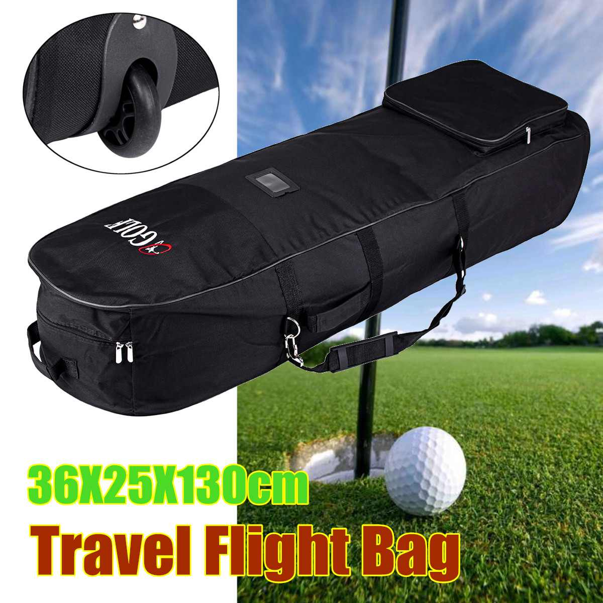 Portable Golf Clubs Aviation Bag Waterproof Nylon Folding Travel Flight Bag Cover with Wheels Golf Accessories Sports BagPortable Golf Clubs Aviation Bag Waterproof Nylon Folding Travel Flight Bag Cover with Wheels Golf Accessories Sports Bag