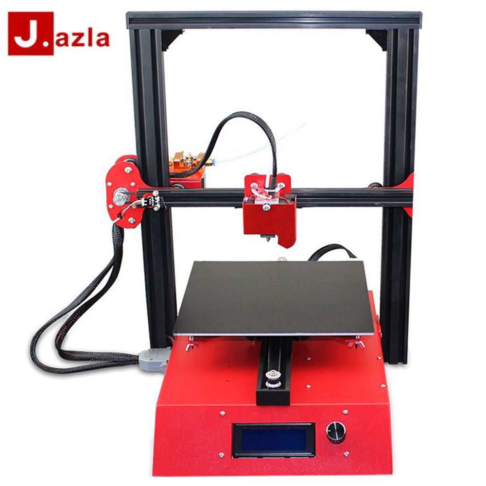 NEW Jazla J1 3D Printer 230 x 230 x 230 DIY Kits 3D Printer Full Metal Frame Printing Support SD Card For Office Home zonestar newest full metal aluminum frame big size 300mm x 300mm auto level laser engraving run out decect 3d printer diy kit