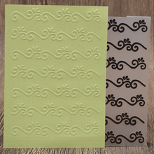 Lace Wave Plastic Embossing Folder Template For Scrapbooking Photo Album Paper Card Making Decoration