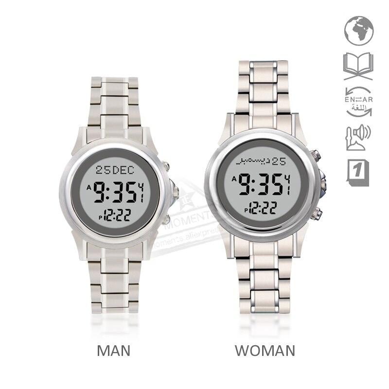Cheap Price Muslim Sport Watch Prayerwaterproof Atm3 35mm 6505 Prayer Watch With Athan Time Compass Quran Bookmark Hijri Stopwatch Digital Watches