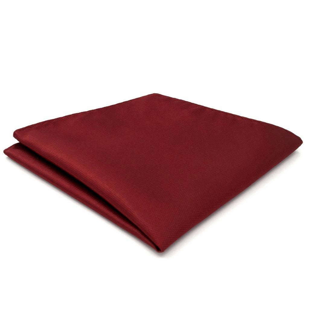 CH33 Mens Pocket Square Classic Red Solid Silk Fashion Wedding Acceossories Hanky Brand New Handkerchief