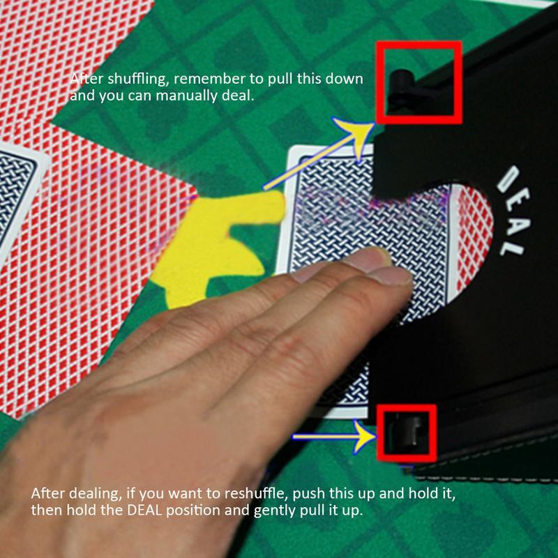 Automatique carte Shuffler électronique professionnel carte Shuffler 2 en 1 Shuffle Deal Machine à piles cartes de Poker - 6
