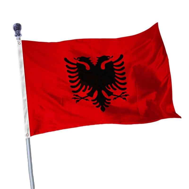 アルバニア双頭イーグル屋外屋内バナーアルバニア腕国旗パレード/フェスティバル/家の装飾 90*150 センチ